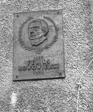 Tablica Feliksa Nowowiejskiego