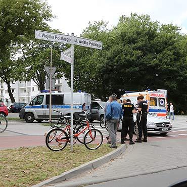 78-latek potrącił rowerzystkę. Dostał 200 zł mandatu
