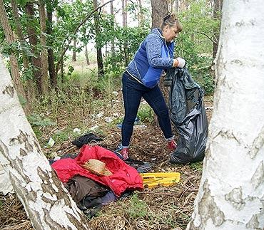 Posprzątali las przy ulicy Szkolnej