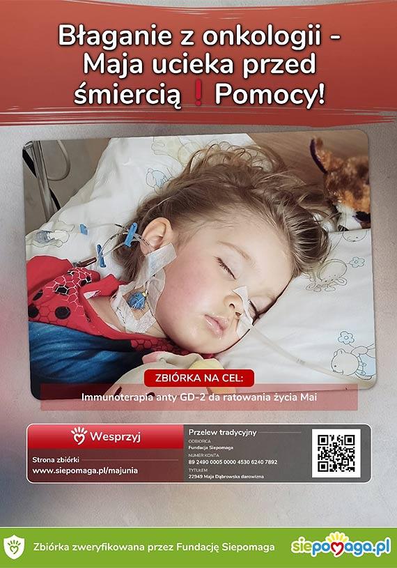 Pomóżmy w ratowaniu małej Mai, córki policjanta