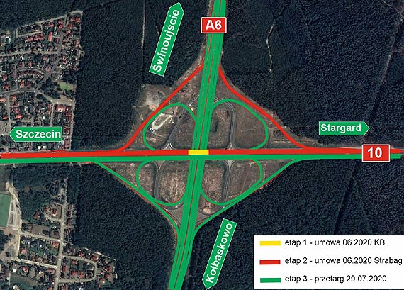 Ogłosiliśmy przetarg na trzeci etap robót na węźle drogowym Szczecin Kijewo