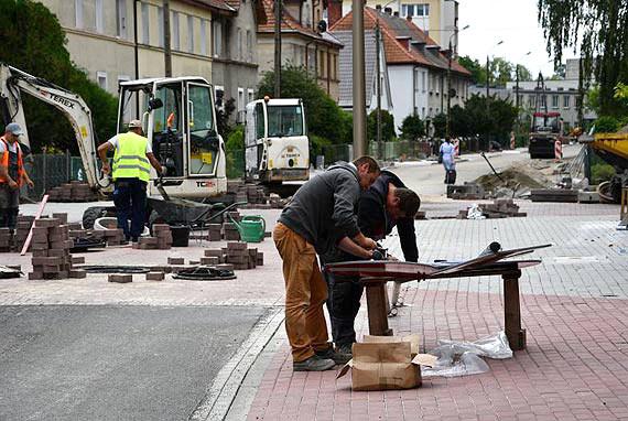 Roboty budowlane na Gdyńskiej