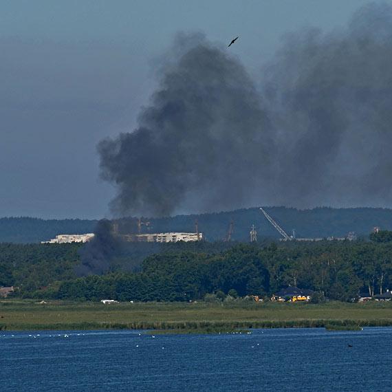 Kłęby dymu nad Przytorem. W sobotę rano spłonął domek letniskowy