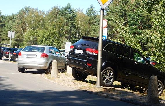 Mieszkaniec: Połowa parkingu pusta, a samochody parkują na zakazach i w krzakach!