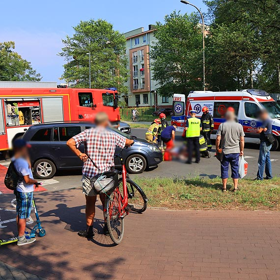 Rowerzystka potrącona na ulicy Wielkopolskiej w miejscu gdzie przebiega ścieżka rowerowa