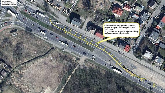 Utrudnienia na DK 10 w rejonie węzła drogowego Szczecin Kijewo