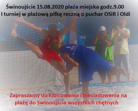 15.08.2020 r. Zapraszamy na Turniej w piłce ręcznej plażowej masters – kobiet i mężczyzn