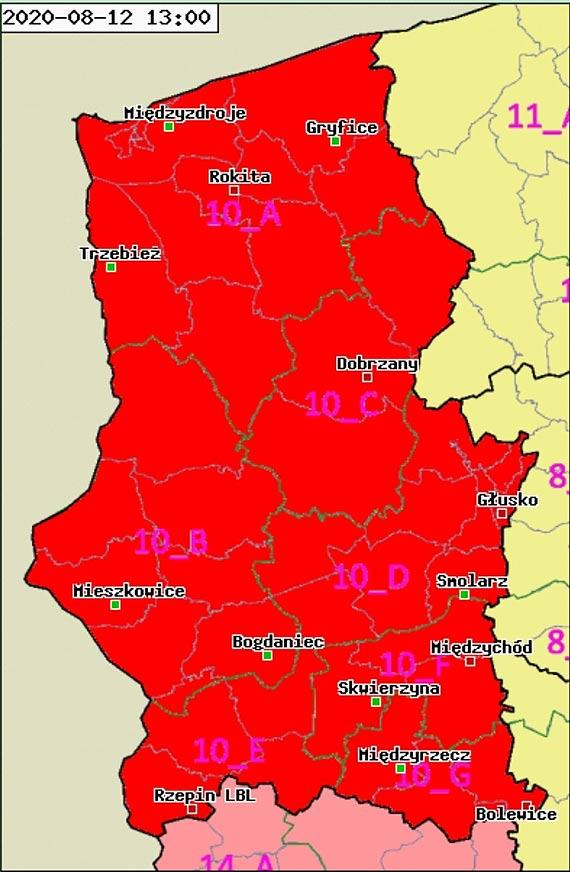 Najwyższy stopień zagrożenia pożarowego na terenie RDLP Szczecin
