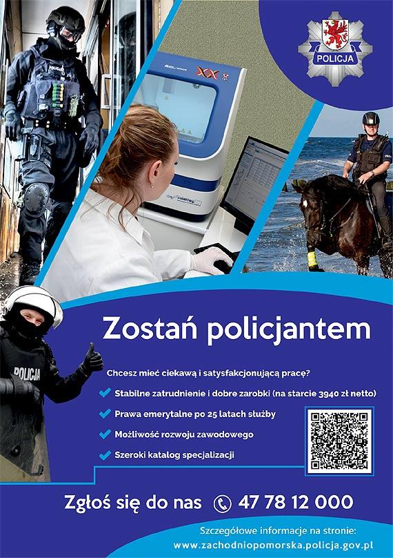 Wybierz zawód Policjanta! Połącz służbę z pasją. Zobacz film!