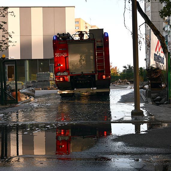 Jeszcze nie otworzyli a już można się kąpać. Woda na terenie budowy nowego basenu przy Gdyńskiej