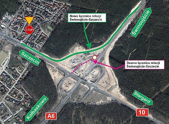 Nowa łącznica na węźle drogowy Szczecin Kijewo
