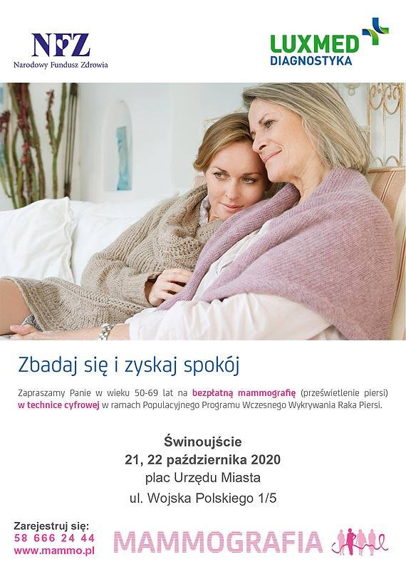 Październik Miesiącem Świadomości Raka Piersi – bezpłatne badania mammograficzne LUX MED – Świnoujście