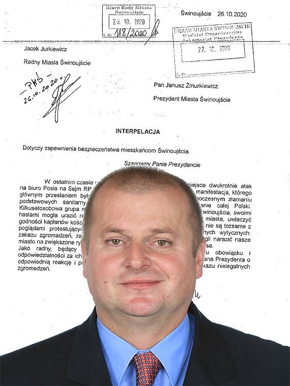Radny Jurkiewicz chce, żeby Żmurkiewicz zadziałał