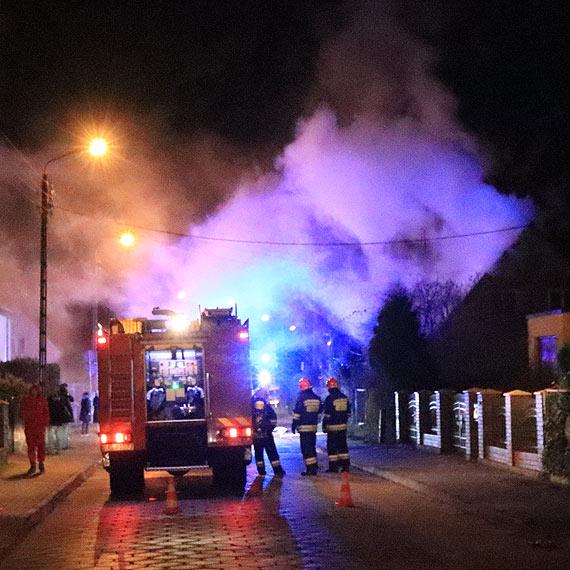 Pożar na Mazowieckiej. 1 osoba poszkodowana