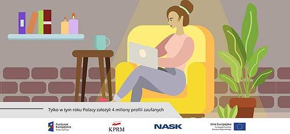 Tylko w tym roku cztery miliony Polaków założyło profil zaufany!