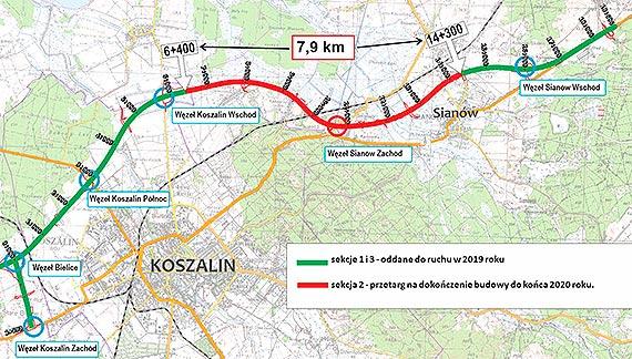 Rusza przetarg na dokończenie obwodnicy Koszalina i Sianowa w ciągu S6