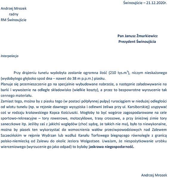 Andrzej Mrozek: Tego piasku nie marnujcie!