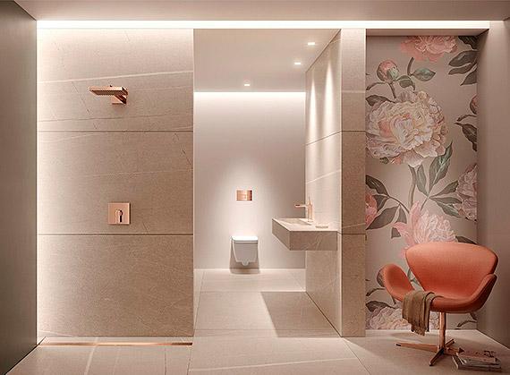 W jasnych barwach – 3 odcienie dla przestronnej i nowoczesnej łazienki
