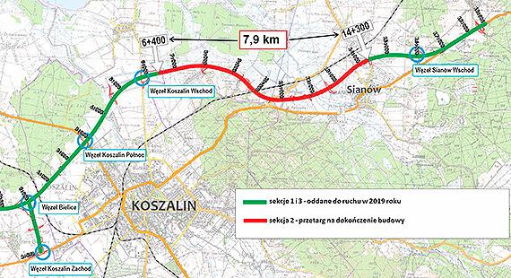Pięciu chętnych na dokończenie budowy obwodnicy Koszalina i Sianowa