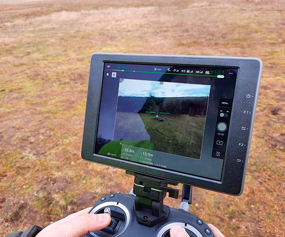 Kontrole drogowe z wykorzystaniem policyjnego drona