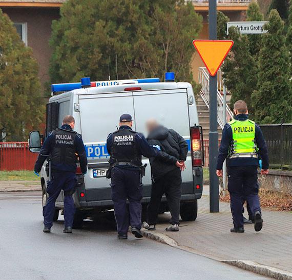Policjanci zatrzymali agresywnego awanturnika