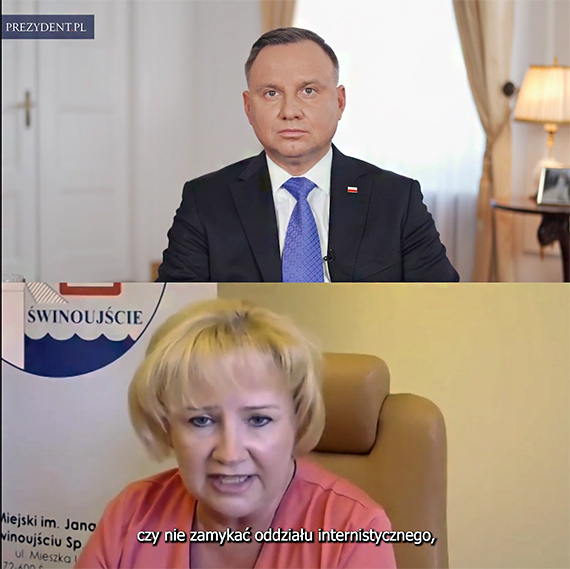 Prezydent Andrzej Duda podziękował pracownikom szpitala w Świnoujściu za ich wytężoną pracę. Zobacz film!