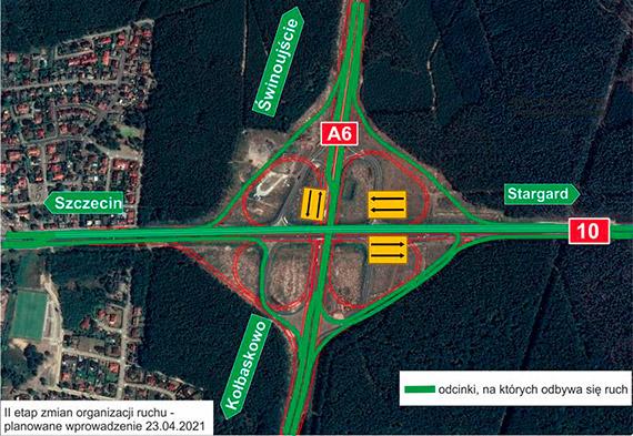 Duże zmiany na węźle Szczecin Kijewo