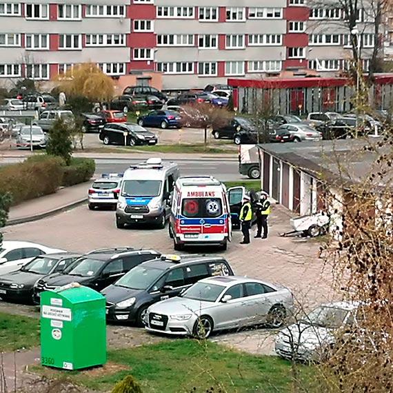 Potrącenie rowerzystki na Witosa. 71 - latka trafiła do szpitala