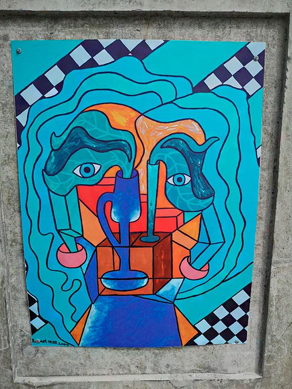 Duży format i mnóstwo koloru! Promenada miejscem mini-wystawy malarstwa Rafaela Barczaka [2]