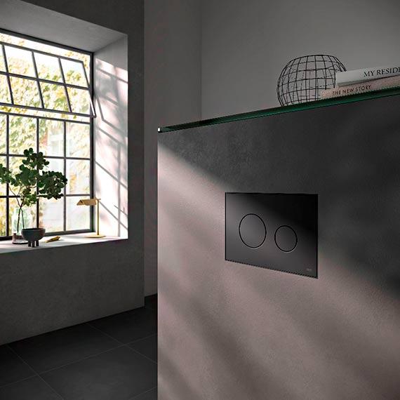 Beton, czerń, technologia – urządzamy łazienkę w stylu soft loft