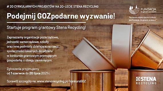 Stena Recycling dofinansuje 20 lokalnych, ekologicznych projektów