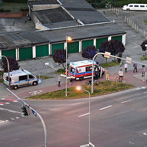 Tragiczny wypadek przy skrzyżowaniu. Nie żyje około 50 - letni mężczyzna kierujący skuterem!