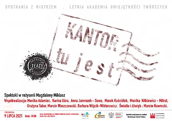 """Marek Kościółek w Wielopolu Skrzyńskim - Premiera """"KANTOR TU JEST"""" - 9 lipca"""