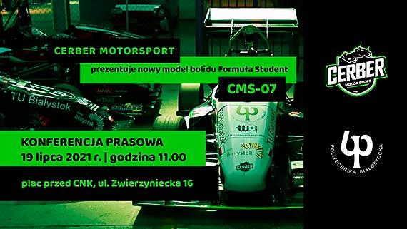 Politechnika Białostocka prezentuje nowy bolid klasy Formuła Student. To CMS-07