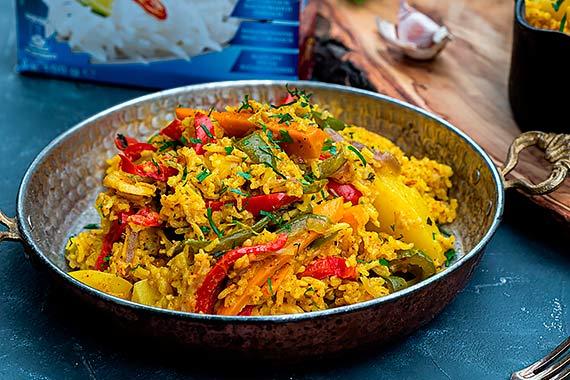 Przepis kulinarny Byriani z ryżem i warzywami