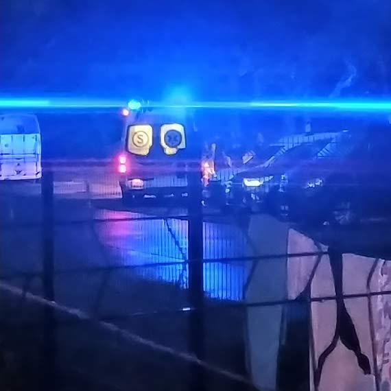 Mężczyzna, który zasłabł na ulicy, został zabrany do szpitala
