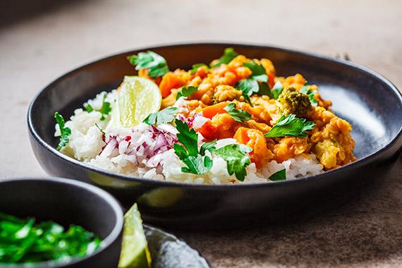 Bezglutenowa potrawka orientalna z ryżem BIO