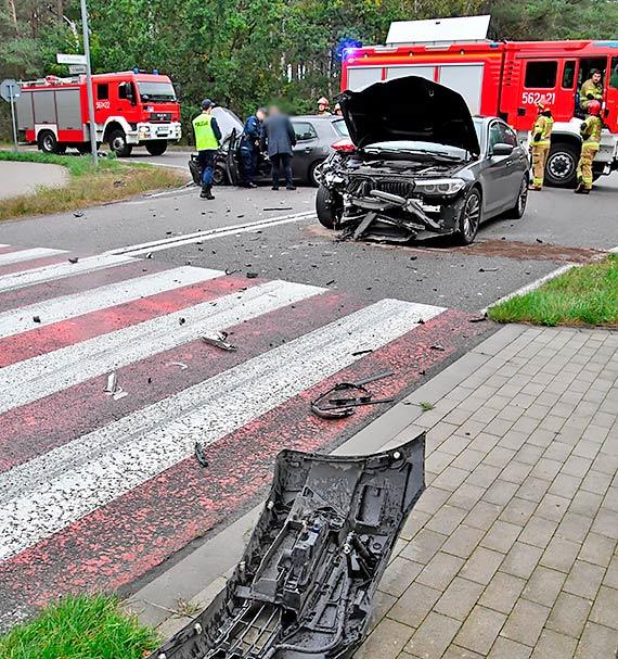 Wypadek samochodowy w Przytorze